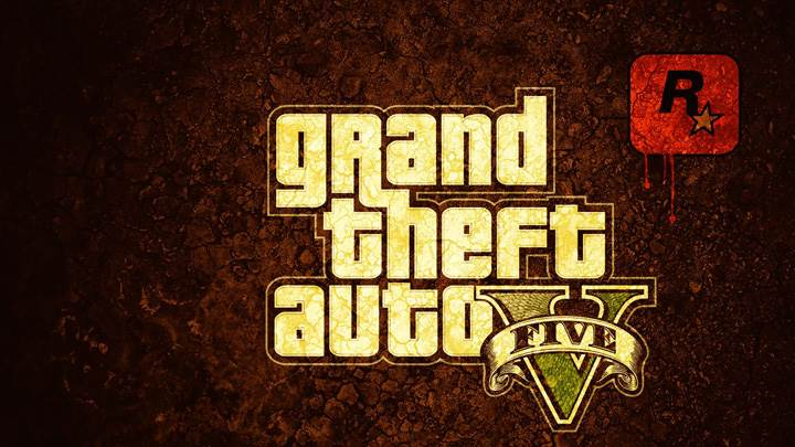 Grand Theft Auto V – Logo On Brown Background